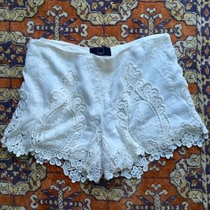 Dolce Vita Lace Shorts from Anthropologie